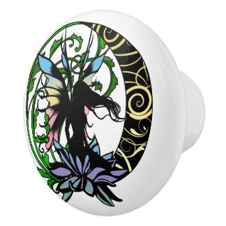 Lotus Shadow Fairy Ceramic Knob