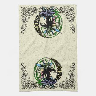 Lotus Shadow Fairy Kitchen Towel