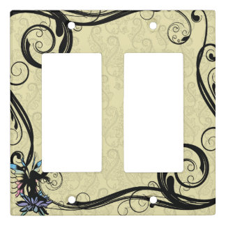 Lotus Shadow Fairy Light Switch Cover
