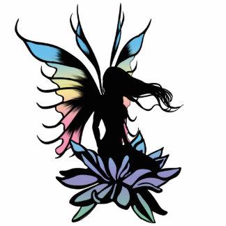 Lotus Shadow Fairy Standing Photo Sculpture