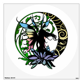 Lotus Shadow Fairy Wall Decal