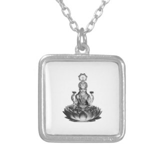 Lotus Song Silver Plated Necklace