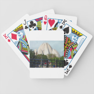 Lotus Temple New Delhi India Bahá'í House Worship Bicycle Playing Cards