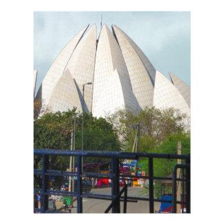 Lotus Temple New Delhi India Bahá'í House Worship Letterhead