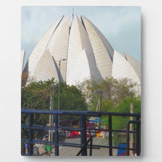 Lotus Temple New Delhi India Bahá'í House Worship Plaque