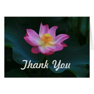 Lotus Thank You Card, Horizontal Card