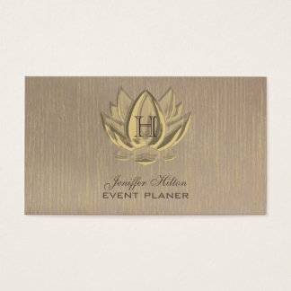 Lotus vintage elegant chic artdeco monogram business card
