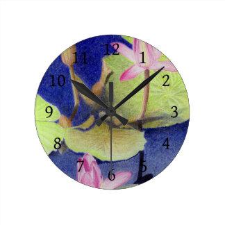 Lotus Waterlily Round Clock