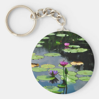 Lotus with DragonFly Keychain