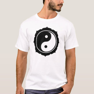Lotus Yin Yang Sign T-Shirt