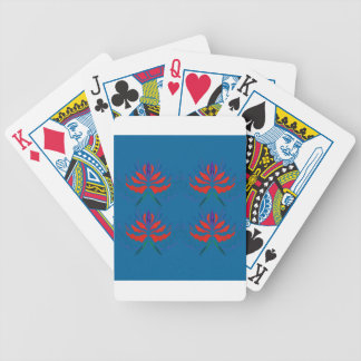 Lotuses ethno blue bicycle playing cards