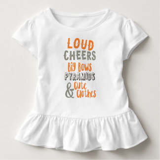 Loud Cheers & Big Bows Toddler T-shirt