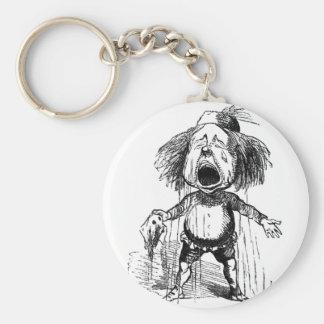 Loud Crying Boy Funny Cartoon Drawing Tears Basic Round Button Keychain