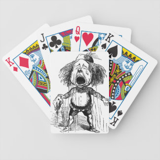 Loud Crying Boy Funny Cartoon Drawing Tears Bicycle Playing Cards