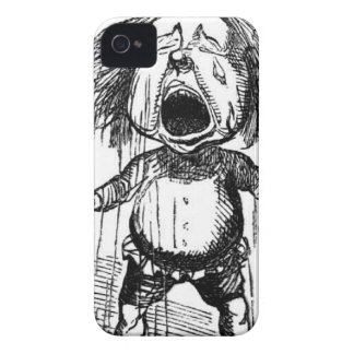 Loud Crying Boy Funny Cartoon Drawing Tears iPhone 4 Case-Mate Case
