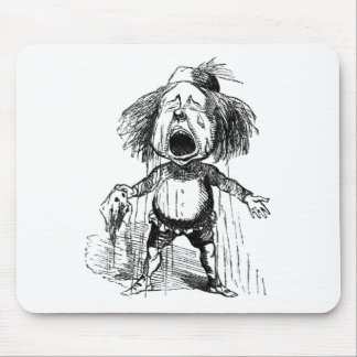 Loud Crying Boy Funny Cartoon Drawing Tears Mouse Pad