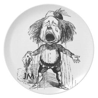 Loud Crying Boy Funny Cartoon Drawing Tears Plate