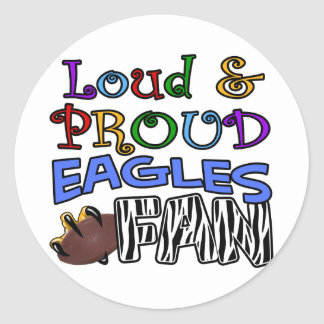 Loud Eagle Fan Zebra Classic Round Sticker