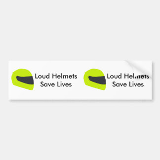 Loud Helmets Save Lives X 2 Bumper Sticker