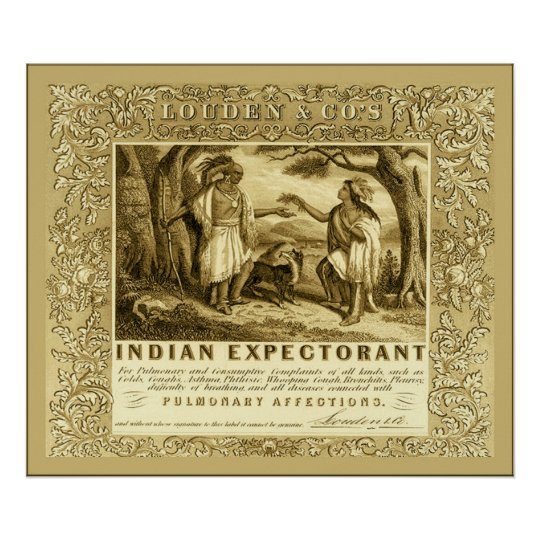 Louden's Indian Expectorant  ~ Vintage Advertising Poster