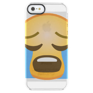 Loudly Crying Emoji Clear iPhone SE/5/5s Case