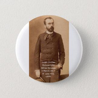 Louis Charles Bonaventure Alfred Bruneau 2 Inch Round Button