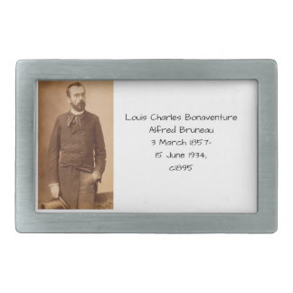 Louis Charles Bonaventure Alfred Bruneau Rectangular Belt Buckle