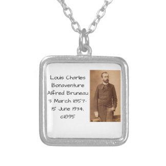 Louis Charles Bonaventure Alfred Bruneau Silver Plated Necklace