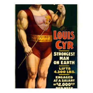Louis Cyr, Strongest Man on Earth Postcard