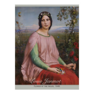 Louis Janmot Flower of the fields CC0913 Large Poster