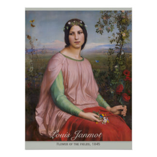 Louis Janmot Flower of the fields CC0914 Perfect Poster