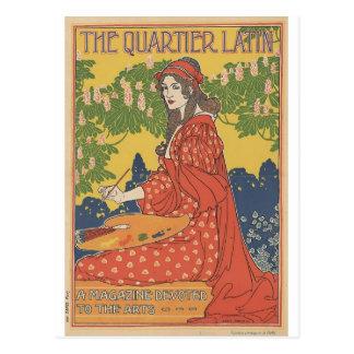Louis John Rhead - The Quartier Latin Postcard
