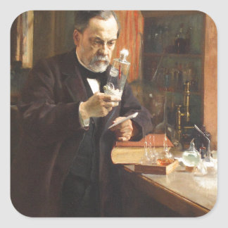 louis pasteur square sticker