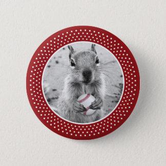 Louis Rally Squirrel - baseball 2 Inch Round Button