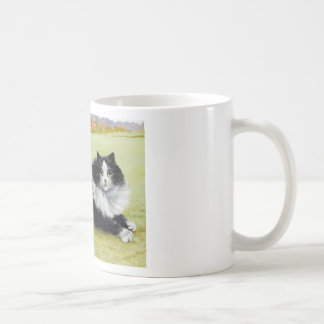 Louis Wain Cat, Black & White Cat Coffee Mug