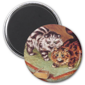Louis Wain Cats and a Mousetrap Magnet