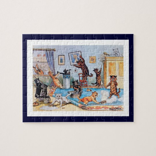 Louis Wain - Cats on a Clean Springing Binge Jigsaw Puzzle