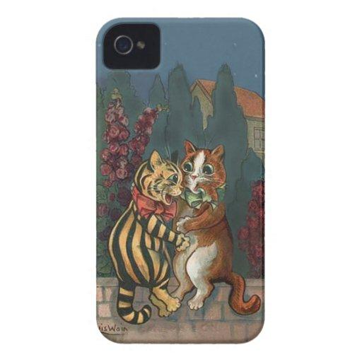 Louis Wain - Cute Cats in Love iphone4 case iPhone 4 Case-Mate Case