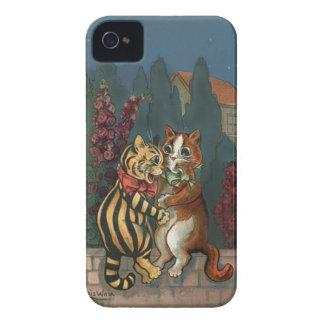 Louis Wain - Cute Cats in Love iphone4 case Case-Mate iPhone 4 Cases
