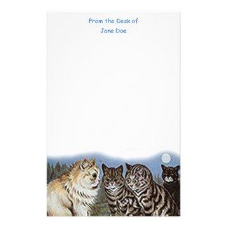 Louis Wain Moonlight Cats Stationery