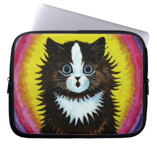 Louis Wain Psychedelic Cat Laptop Sleeve