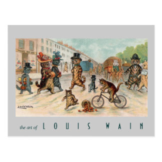 Louis Wain - Town Cats - Vintage Art Postcard