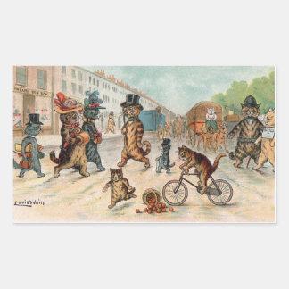 Louis Wain - Victorian Town Cats Sticker