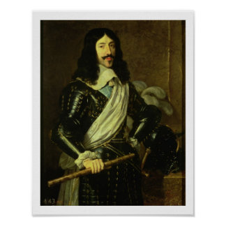 Louis XIII (1601-43) (oil on canvas) Poster
