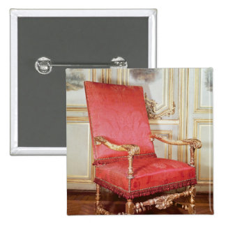 Louis XIII armchair 2 Inch Square Button