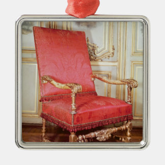 Louis XIII armchair Silver-Colored Square Ornament