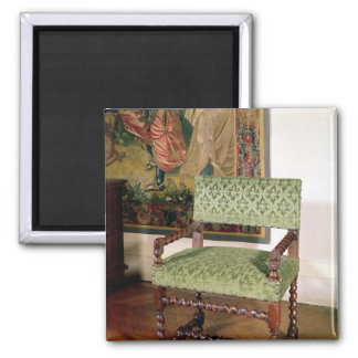 Louis XIII armchair Square Magnet