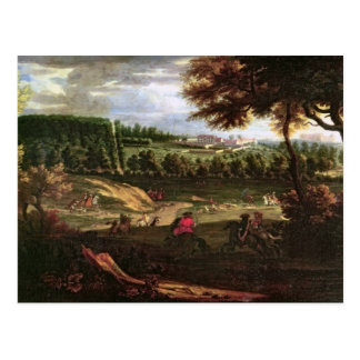 Louis XIV  Hunting at Marly with a View Postcard