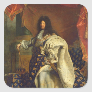 Louis XIV in Royal Costume, 1701 Square Sticker