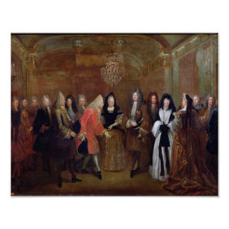 Louis XIV  welcomes the Elector of Saxony Print